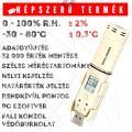 HR65 páratartalom és hőmérséklet adatgyűjtő kijelzővel USB-vel és risztással