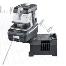 CrossDot-Laser5Pkeresztvonalas szintezőlézer és 5 pontos lézer 360°-os mágneses alapzattal