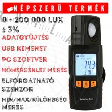 ABM L102 fejlett fénymérő Luxmérő megvilágításmérő hőmérsékletmérő