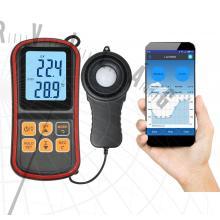 ABM L103 fejlett fénymérő Luxmérő megvilágításmérő hőmérsékletmérő Bluetooth kapcsolattal