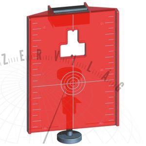 Piros mágneses céltábla minden forgólézerhez vagy lézeres műszerhez