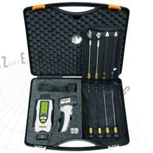 MultiWet-Mastervizsgálószett, tartalmazza:MultiWet-Master,ThermoSpotPlus,DeepElectrodes,ExtensionCable,elemek,hordtáska