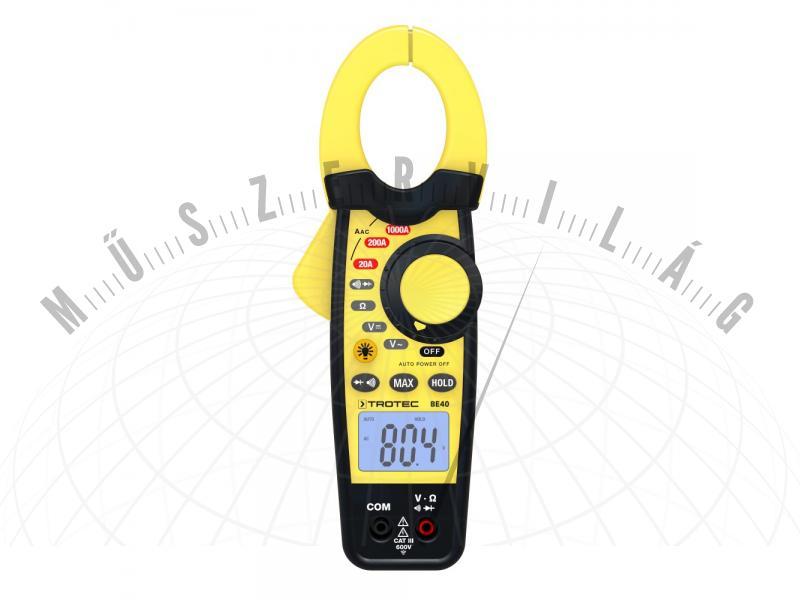 BE40 Lakatfogós multiméter