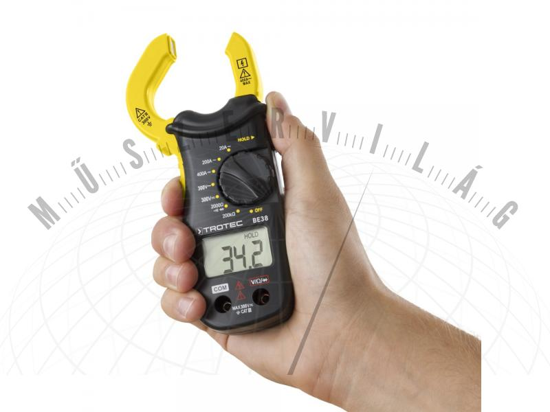 BE38 Lakatfogós multiméter