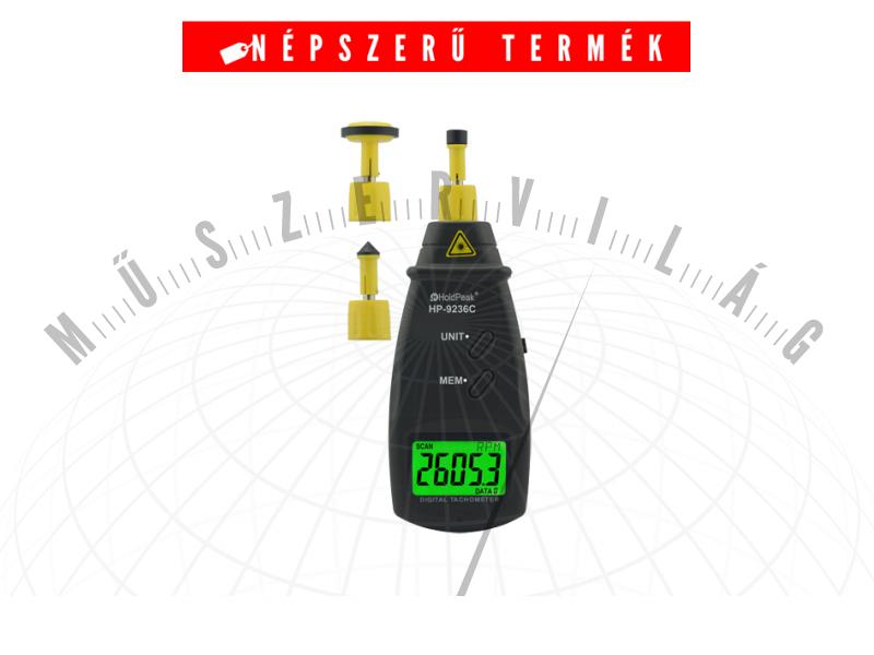 HPK9236C Digitális mechanikai és lézeres optikai fordulatszám mérő
