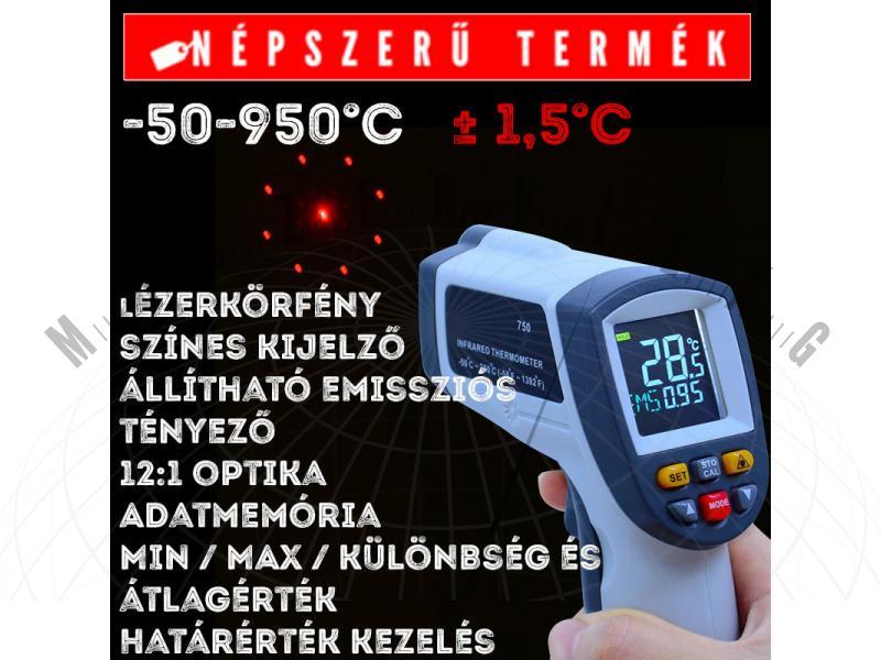 I95 950°C-os infra hőmérő infravörös hőmérő lézeres hőmérő pirométer ipari nagyhőmérsékletű infra hőmérő