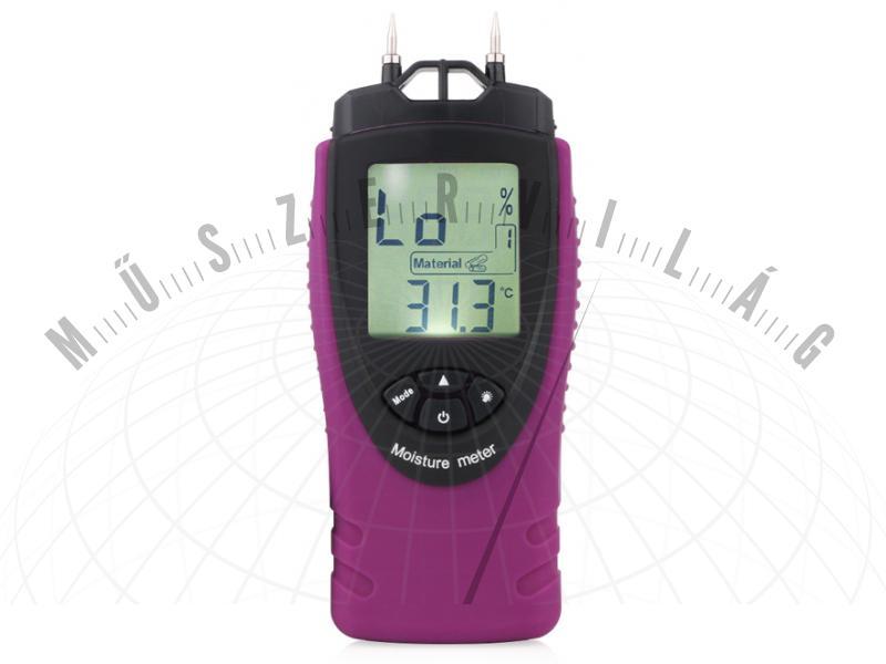 NM804 univerzális nedvességmérő nedvességtartalom mérő FA és ÉPÍTŐANYAGnedvességtartalmának mérésére