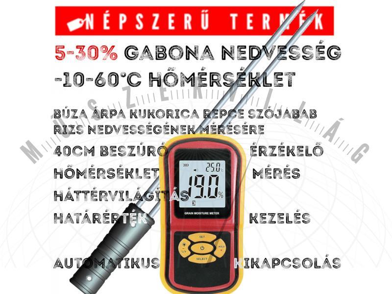 NM40 gabona nedvességmérő búza árpa kukorica repce szójabab rizs nedvességtartalom mérő