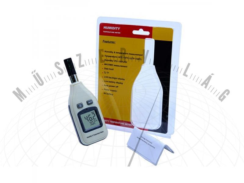 HR62 páratartalom és hőmérséklet mérő