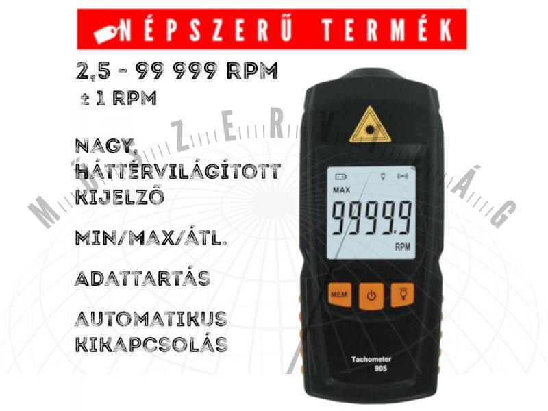 Nova T905 lézeres fordulatszámmérő tachméter, optikai tachométer
